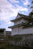 Japanese castle river — Stock Photo