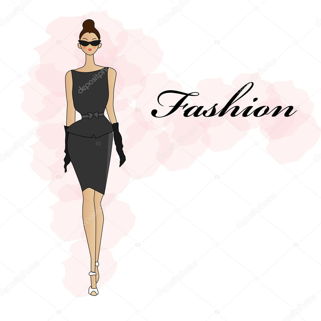 Fashion Girl Stock Vector Mistuk13 6172183
