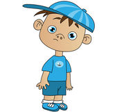 Boy in cap cartoon — Stock Vector
