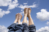 Mother and daughter feet. — Stock Photo