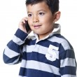 Boy talks on phone. — Stock Photo