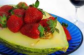 Fragole e melone — Foto Stock