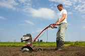 Working farmer — Stock Photo