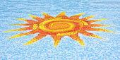 Sun Mosaic — Stock Photo