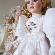 Vintage porcelain dolls — Stock Photo