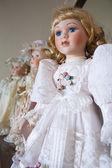 Vintage porcelain dolls — Stock Photo