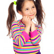 Dreaming little girl looking away — Stock Photo #5981575