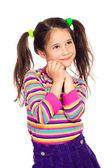 Marzy dziewczynka, patrząc od — Zdjęcie stockowe
