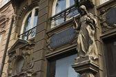 Chist statue on Bratislava Facade — Stock Photo