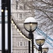 Tower Bridge and street lamps — Stock Photo #5676759