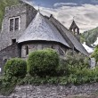 Stock Photo: Antique church in english ciuntryside