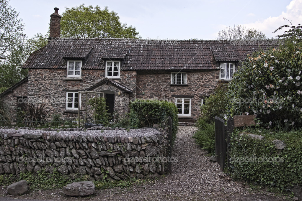 Old house in countryside in england stock photo - Vieille maison de campagne ...