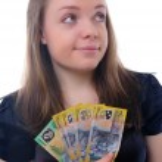 Girl with money — Stock Photo #6542536