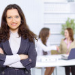 Portrait of successful businesswoman and business team at office meeting — Foto Stock