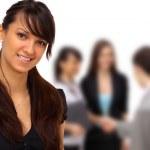 iş kadını ofiste — Stok fotoğraf #5646892