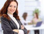 Business woman in office — Стоковое фото