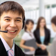 Friendly customer service consultants working — Stock Photo #5987445