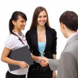 Business shaking hands, finishing up a meeting — Stock Photo #5987456