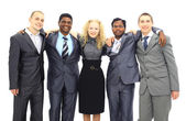 Business team isolated over white background — Stock Photo