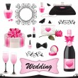 Stock Vector: Wedding icon set.