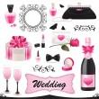 Wedding icon set. — Stock Vector