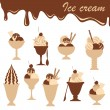 Ice-creams mix — Vector de stock