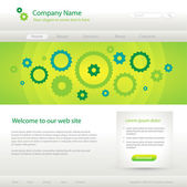 Green website creative template — Stock Vector