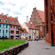 Latvia capital Riga old town — Stock Photo