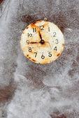 Temps est court - symbole du temps dans la glace — Photo