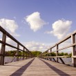 Wooden bridge construction — Stock Photo