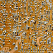 Stock Photo: Retro electronic circuitry background