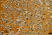 Retro electronic circuitry background — Stock Photo