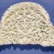 Retro and grunge gypsum tracery fragment — Stock Photo