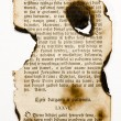 Old books burnt page — Stock Photo