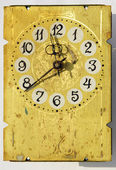 Grunge vintage clock-face — Stock Photo