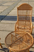 Wattled furniture in the park — Foto Stock