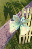 Paper butterfly in the park — Stock Photo