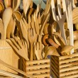 Handmade wooden flatware — Stock Photo