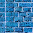 Blue painted wall background — Stock Photo