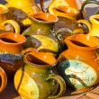 Clay jars in the fair - Stock Photo