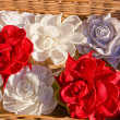 Royalty-Free Stock Photo: Handmade flax clothes roses