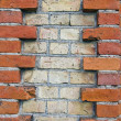 Various bricks wall background — Stock Photo