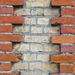 Various bricks wall background — Stock Photo