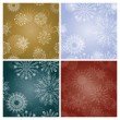 Set of New Year's backgrounds with snowflakes — Imagen vectorial