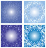 Collection of New Year's backgrounds with snowflakes — Vettoriale Stock