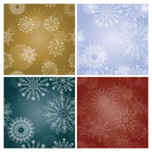 Set of New Year's backgrounds with snowflakes — Stock Vector