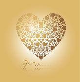 Coração de ouro — Vetor de Stock