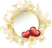 Vintage Frame Valentine's Day — Stock Vector