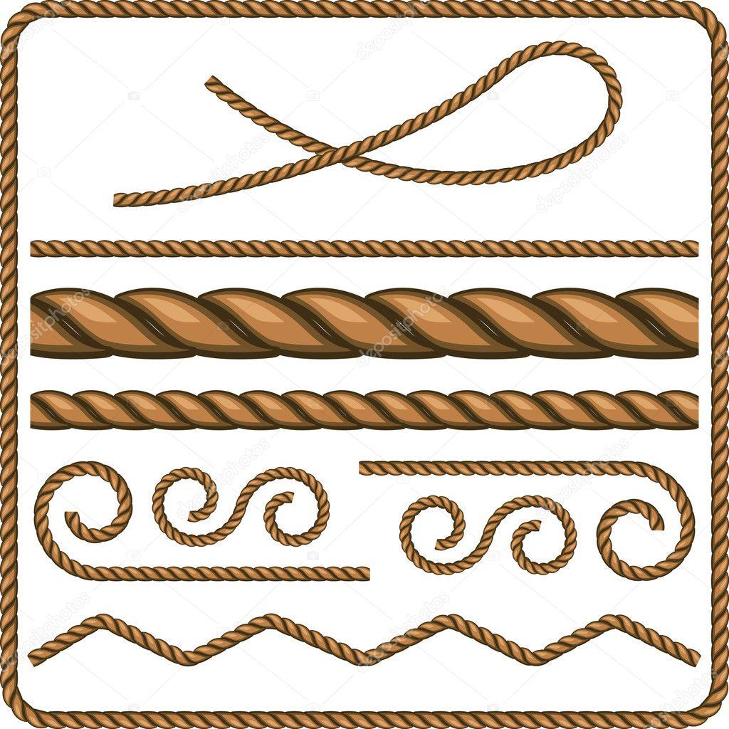 绳索和结 — 矢量图片作者 mur34
