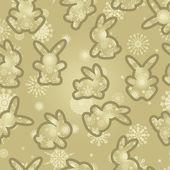 Christmas background rabbits — Stock Vector